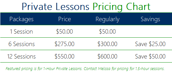 Private Lessons Price List